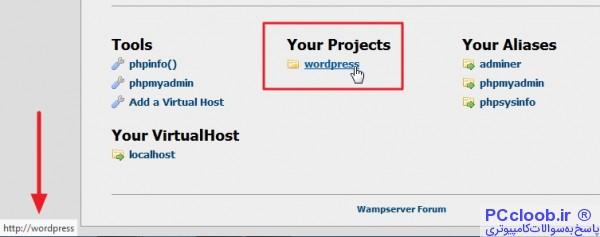 wampserver link problem